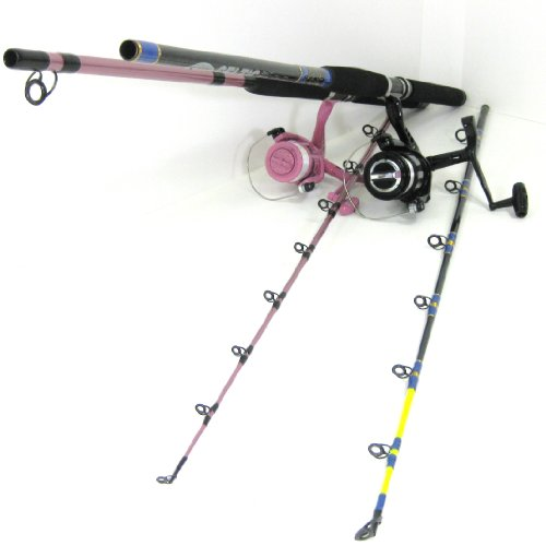 FTD FLADEN (His & Hers) 2 x 2 Piece Sea Boat Fishing Rods & Reels Combo (both reels are pre-spooled)