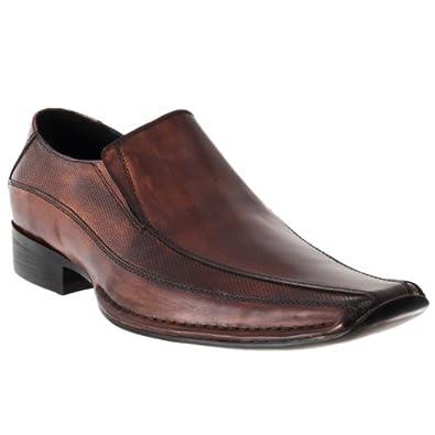 Steve Madden Mens Taberr Leather Slip-on Dress Shoes, Tan, Size 11