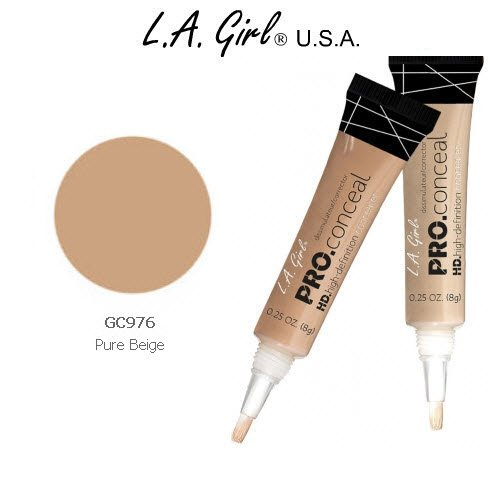 L.A. Girl Pro Conceal HD 976 Pure Beige (2 Pack) (La Girl Pro Concealer Pure Beige compare prices)
