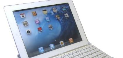 iPad2 bluetoothキーボード内蔵アルミケース 【USキーボード】 ホワイト 日本語操作説明書付き