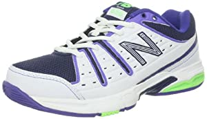 New Balance - Womens 656 Cushioning Tennis / Court Shoes, UK: 8 UK - Width D, White with Purple & Green