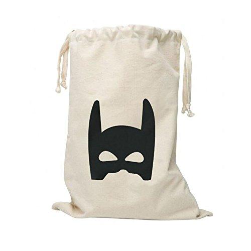 CuteOn Bambino del Fumetto di tela Borse Lavanderia Carrello Coulisse Bag Borse Giocattolo di immagazzinaggio Batman