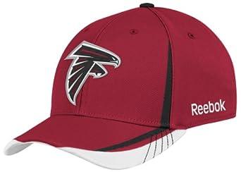 NFL Atlanta Falcons Sideline Flex-Fit Draft Hat, Red, X-Large/XX-Large