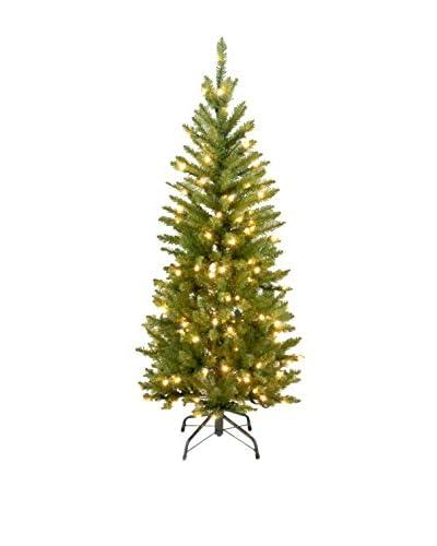 National Tree Company 4.5' Kingswood 150-Light Fir Hinged Pencil Tree