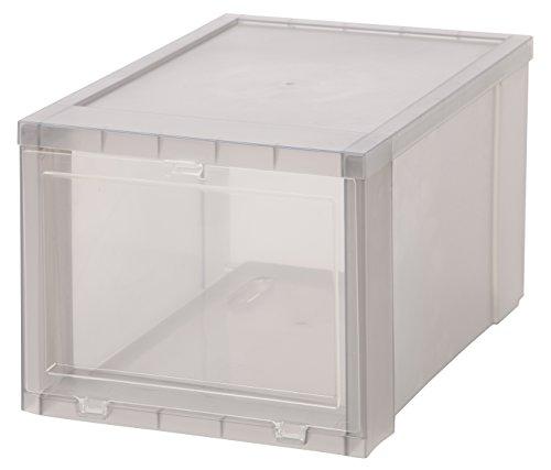 IRIS Small Drop Front Shoe Box, 6 Pack, Gray (Jordan Shoe Storage Box compare prices)