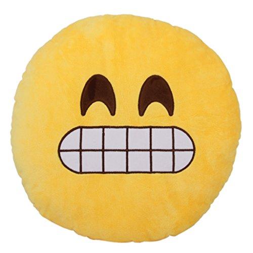 Runde Emoji Emoticon Kissen Weich Kissen Plüsch Spielzeug Geschenk Kichern