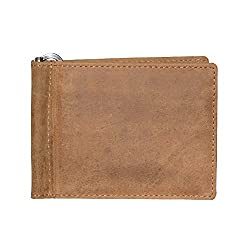 Style98 Brown Cognac Genuine Leather Money Clip Wallet Cum Credit Card holder For Men and Boys