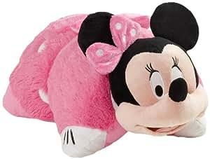"""Pillow Pets Authentic Disney 18"""" Minnie Mouse, Folding Plush Pillow- Large"""