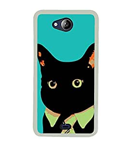 Funny Cat 2D Hard Polycarbonate Designer Back Case Cover for Micromax Canvas Play Q355