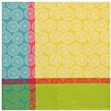 "100% Cotton Yellow Blue & Green 60""x60"" Tablecloth - Dandelion Yellow"