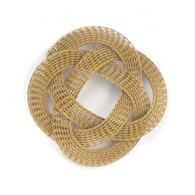 Collapsible Woven Knot Bracelet (Gold) by Sarah Cavender