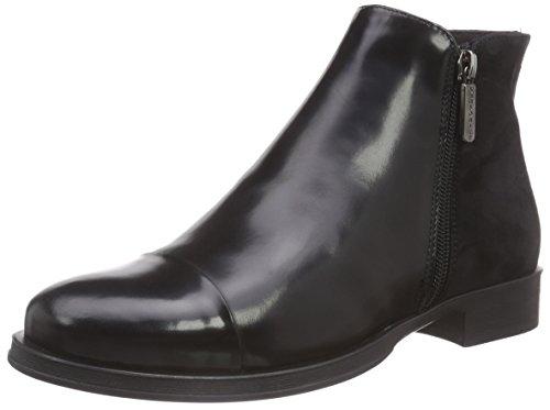 SamsoniteBREMA MID 1508 BRUSH.LEATHER/SUEDE BLACK/BLACK - Stivali Chelsea Donna, colore Nero, taglia 36