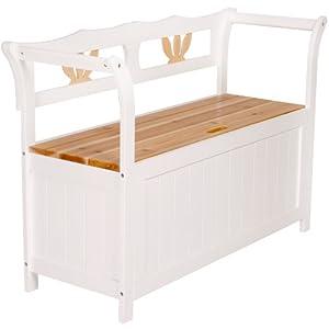 Jago trbk01 cassapanca panchina in legno bianco for Panchina cassapanca
