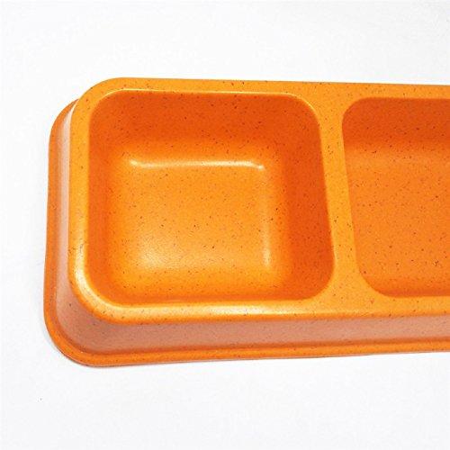 Dr.RanRan 26 cm Cuadrilátero Doppia Bebedero Máscota Lazones Mangiatoia Per Cane Gatto Piatto Ciotola Ciotolina Rosa, Verde, arancione