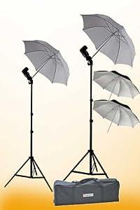 ePhoto 2 x off Camera flash Photography Umbrella Flash Shoe Mount Swivel Flash Adapter