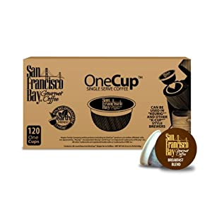 San Francisco Bay Coffee, Breakfast Blend, 120 OneCup Single Serve Cups