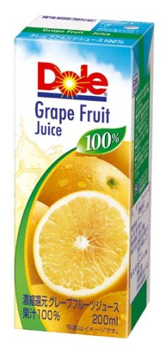 Doleグレープルーツ100% 200ml×18本