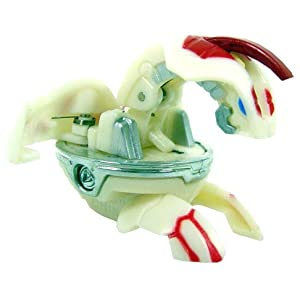 Delta Dragonoid II Evolved Heavy Metal Special Attack White with Red Markings Bakugan Battle Brawlers Figure with Metal Card