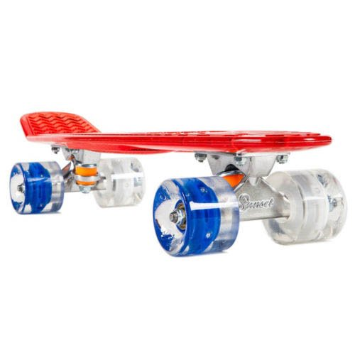 Led Light Up Plastic Skateboard Sunset Flare Stars&Stripes