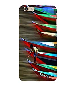 ColourCraft Racing Boats Design Back Case Cover for APPLE IPHONE 6 PLUS