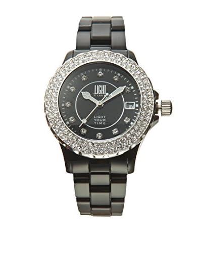 Light Time Reloj Black And White Negro