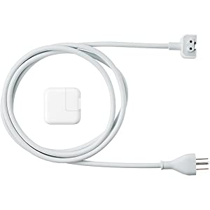 Apple iPad 10W USB Power Adapter (MC359LL/A) with 6 feet AC extension power cord