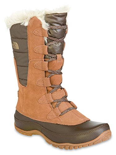 The North Face Nuptse Purna Boot - Women's Dachshund Brown/Shiny Demitasse  Brown, 5.5