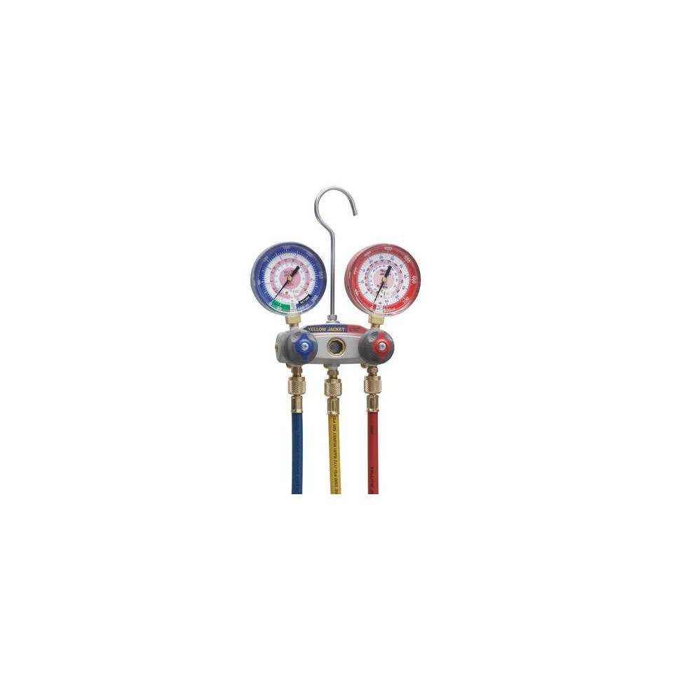 YELLOW JACKET 49867 Manifold Gauge and Hose Set,2 Valve