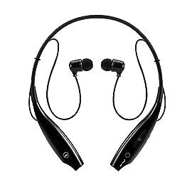 Sport Wireless Bluetooth Headphones, Upgrade Sweatproof Neckband Stereo Earphones  Earbuds-Black