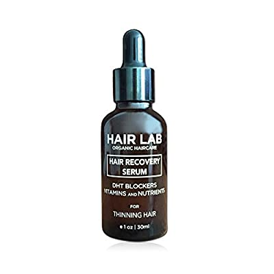Hair Lab Hair Growth Serum for Regrowth and Thickening for Thinning Hair. Organic Ingredients. Packed with DHT Blockers Including Caffeine and Biotin.