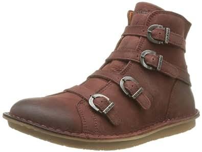 Kickers Waxing, Boots femme - Rouge (Bordeaux 18), 42 EU