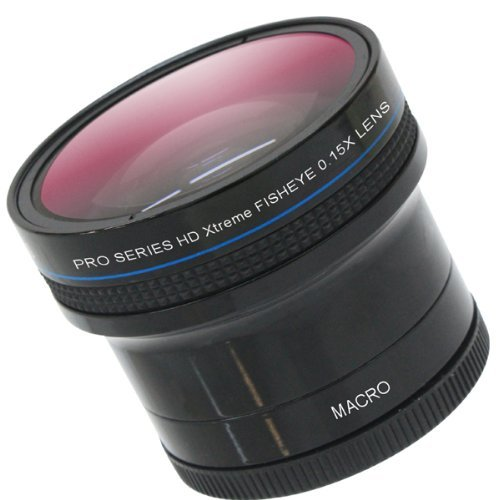 0.18x Wide Angle Fisheye Lens With Macro lens For The Nikon Coolpix P6000, Digital Camera Tube Adapter Included