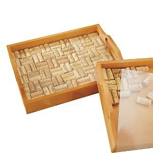 Wine Cork Serving Tray Kit front-487567