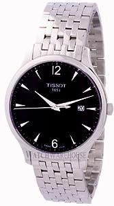 Tissot Men's T0636101106700 Quartz Tradition Silver Tone Anthracite Dial Watch