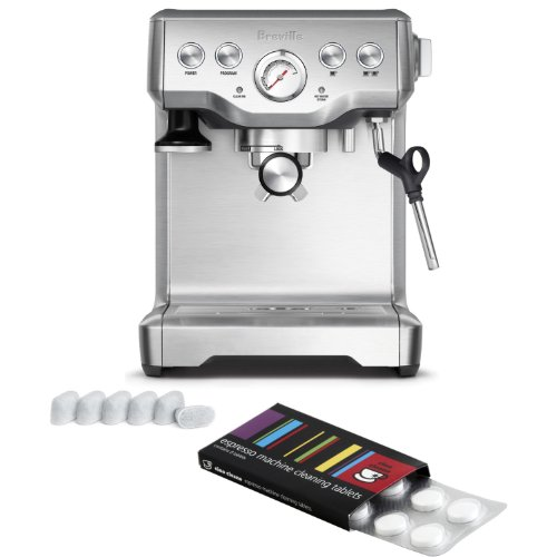 Breville BES840XL Infuser Espresso Machine with Bonus Filters and Cleaning Tablets