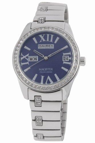 Haurex Italy XS356DB1 - Reloj de mujer de cuarzo, correa de acero inoxidable color plata