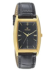 Titan Black Dial Men's Analog Watch - 1640YL03