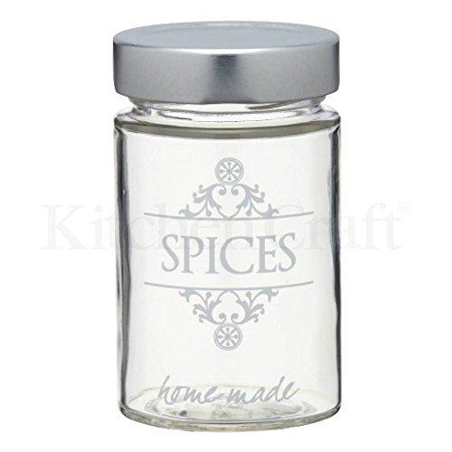 Fait Maison De Style Traditionnel Pot À Épices En Verre (pack de 2)
