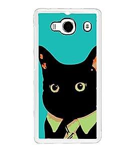 Funny Cat 2D Hard Polycarbonate Designer Back Case Cover for Xiaomi Redmi 2S :: Xiaomi Redmi 2 Prime :: Xiaomi Redmi 2