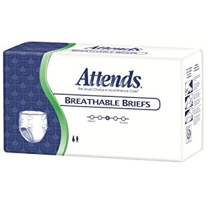 Attends Breathable Fitted Briefs w/ Flex Tabs, Size Medium, Bag/24