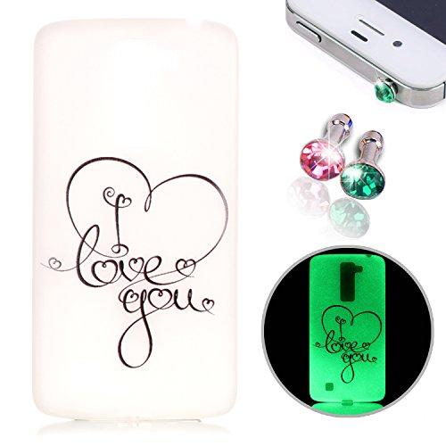 pesrhoo-lg-k8-case-silicone-gel-scrub-luminous-protective-case-cover-simple-design-anti-scratch-fing
