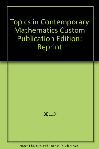 Topics in Contemporary Mathematics, Custom Publication