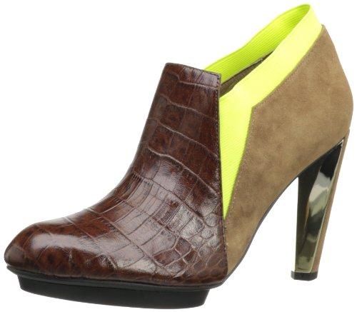 United Nude Women's Lola Boot,Brown/Neon Yellow/Fossil,39 EU/9 M US
