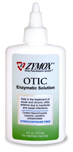 Zymox Otic Pet Ear Treatment without Hydrocortisone, 4-Ounce