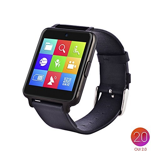 [Real Time Push Notification Support for iOS 9.0 and Android 4.3 or above] OUMAXTM Bluetooth Smart Watch S6 Plus for iPhone6 Plus, 6S and Samsung S6, Note 5 - Dark Grey/IPS Panel