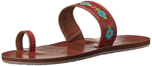 Roxy Women's Cameroon Sandals Flat Sandal, Brown, 7 M US
