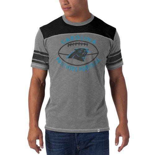 Nfl Carolina Panthers Men'S Top Gun Tee, Small, Wolf Grey front-1039948