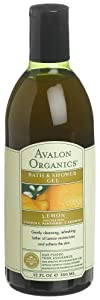 Avalon Organics Bath & Shower Gel, Lemon, 12-Ounces (Pack of 3)