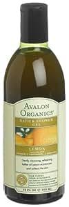 Avalon Organics Bath & Shower Gel, Lemon, 12-Ounces (Pack of 3)