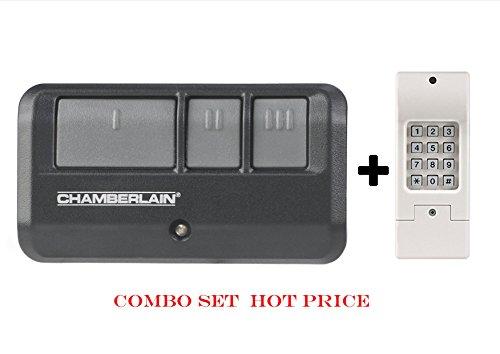 Clicker Universal Garage Door Keypad KLIK2U by Chamberlain Combo With Chamberlain 953EV Garage Remote (Electric Reznor Heater compare prices)
